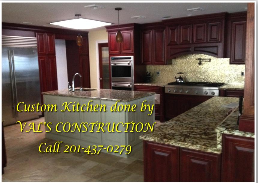 CUSTOM KITCHEN DONE BY VAL'S CONSTRUCTION COMPANY