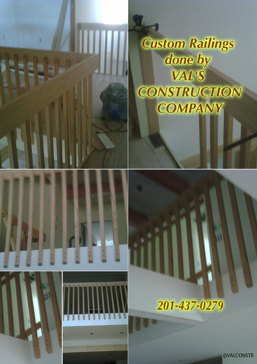 CUSTOM RAILING DONE BY VAL'S CONSTRUCTION COMPANY